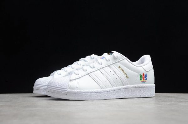 2021 Adidas Superstar White Red Green Blue Outlet Sale FW3694-3