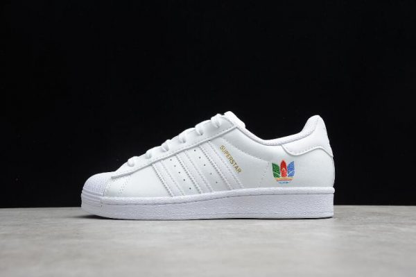 2021 Adidas Superstar White Red Green Blue Outlet Sale FW3694