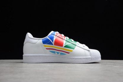 Adidas Superstar Pure White Red Blue Green High Quality FU9519-2