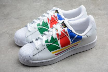 Adidas Superstar Pure White Red Blue Green High Quality FU9519-1
