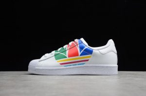 Adidas Superstar Pure White Red Blue Green High Quality FU9519