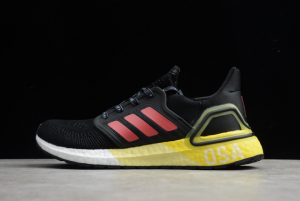 adidas Ultraboost 20 Black/Yellow-Red Shoes For Men