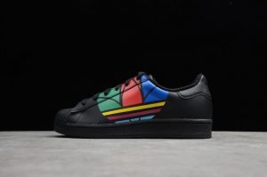 New Sale Adidas Superstar Pure Black Red Blue Green FU9518