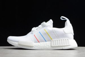 Wholesale adidas NMD_R1 White Yellow Blue Red Shoes FW6436