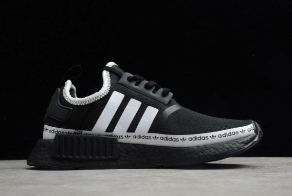 Adidas NMD R1 Boost Core Black Cloud White Outlet Sale FV8729-1