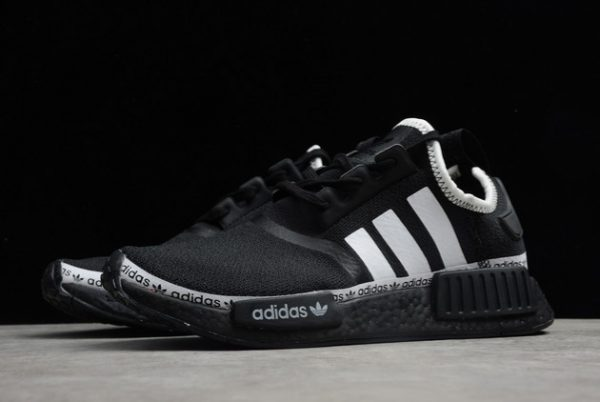 Adidas NMD R1 Boost Core Black Cloud White Outlet Sale FV8729-2