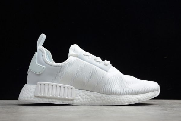 2021 adidas NMD R1 Cloud White Grey Outlet Factory FV9384-1