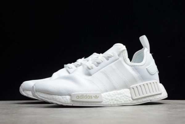 2021 adidas NMD R1 Cloud White Grey Outlet Factory FV9384-2