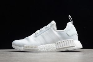 2021 adidas NMD R1 Cloud White Grey Outlet Factory FV9384