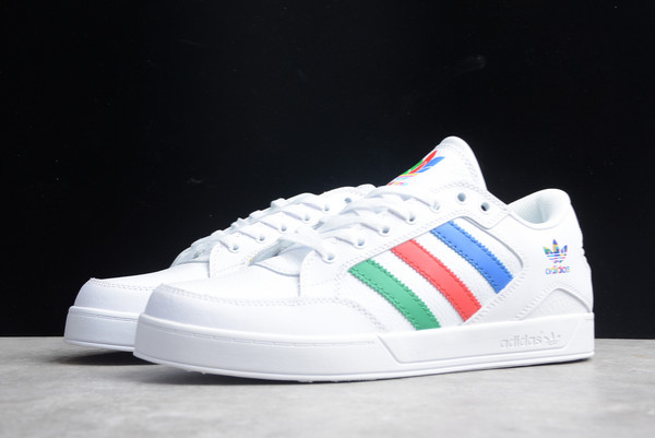 2021 Discount adidas Hardcourt Low White Multi-Color FGX0622-2