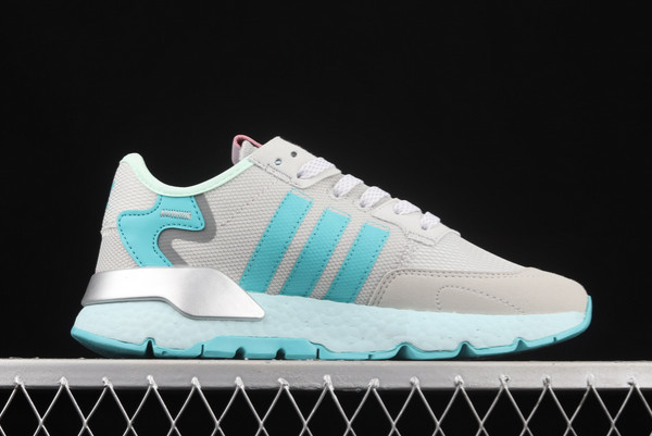 adidas Nite Jogger Boost Grey Blue Silver Outlet Store H01729-1