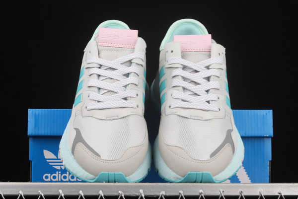 adidas Nite Jogger Boost Grey Blue Silver Outlet Store H01729-2