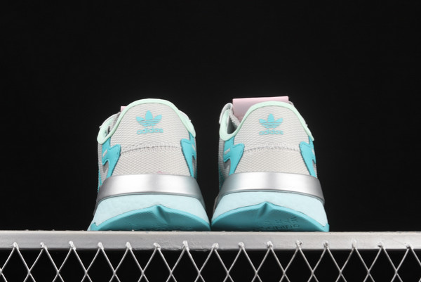 adidas Nite Jogger Boost Grey Blue Silver Outlet Store H01729-3