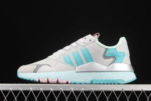 adidas Nite Jogger Boost Grey Blue Silver Outlet Store H01729