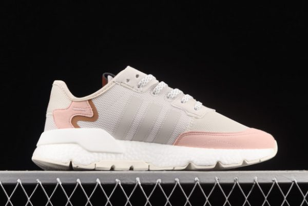 adidas Nite Jogger Boost Grey Pink Brown New Release H01734-1