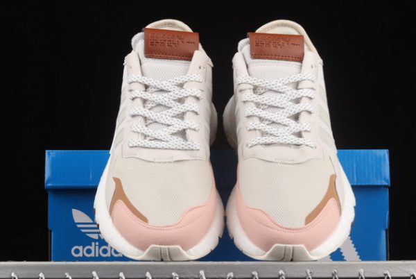 adidas Nite Jogger Boost Grey Pink Brown New Release H01734-2