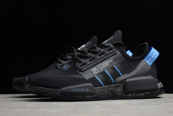 adidas NMD R1 Shoes V2 Circuit Board Black Blue For Sale FY1483-1