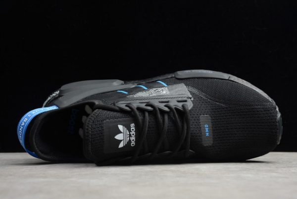 adidas NMD R1 Shoes V2 Circuit Board Black Blue For Sale FY1483-2