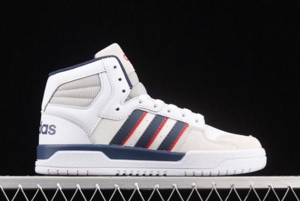 Cheap adidas Entrap Mid Cloud White/Collegiate Navy-Vivid Red FY6621-1