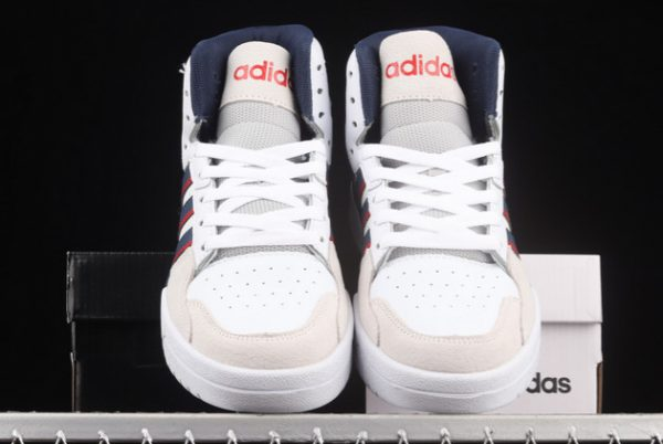 Cheap adidas Entrap Mid Cloud White/Collegiate Navy-Vivid Red FY6621-2