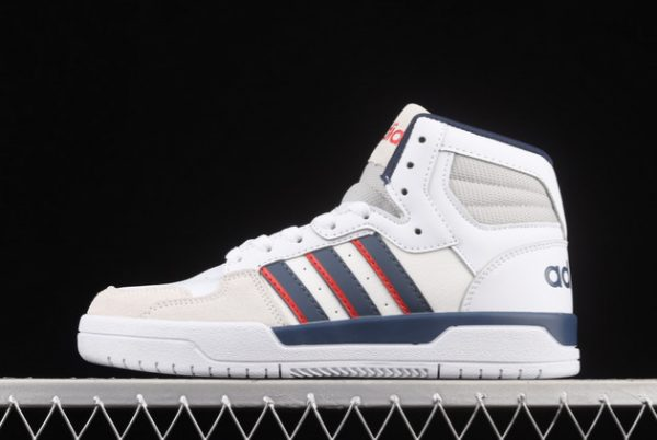 Cheap adidas Entrap Mid Cloud White/Collegiate Navy-Vivid Red FY6621